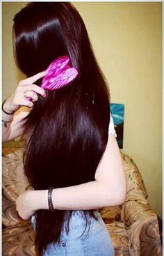 LunasAngel♡ Long Black Hair, Very Long Hair, Dark Hair, Beautiful Long Hair, Gorgeous Hair, Natural Hair Styles, Long Hair Styles, Hair Shows, Silky Hair
