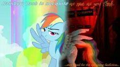 Mlp Creepypasta, Rainbow Dash, Fnaf, My Little Pony, Horror, Tv, Fictional Characters, Television Set, Fantasy Characters