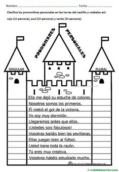 Pronombres personales-Actividades para 4º nivel Spanish Teacher, Spanish Class, Teaching Spanish, Interactive Notebooks, Lesson Plans, Back To School, Classroom, Activities, Writing