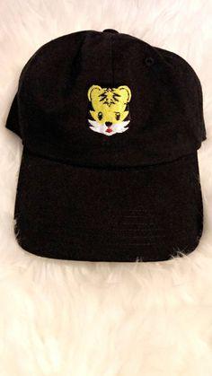 d5eaecc956645 Tiger Emoji Dad Cap Hat  Pizza  TrendingHats  Pablo  DadCaps  hats
