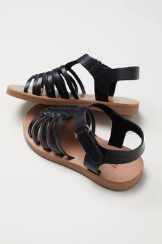 Lædersandaler - Sort - BØRN | H&M DK 2 H&m Shoes, Girls Shoes, Girl Outfits, Sandals, Fashion, Baby Clothes Girl, Moda, Shoes Sandals, Fashion Styles