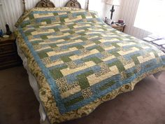 A special King size quilt made for our niece and her husband.
