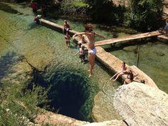 120 feet deep Jacob's well, Texas