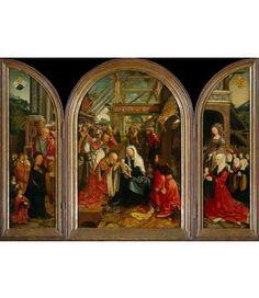 Kaartjes sturen Jacob Cornelisz. van Oostsanen. Aanbidding der koningen, 1517