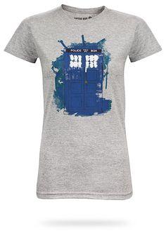 ThinkGeek :: Modern Art TARDIS Babydoll $21.99