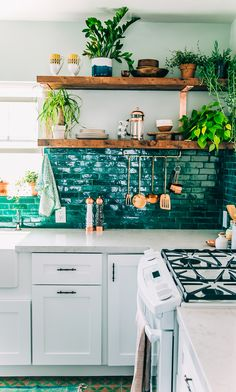 Justina Blakeney's kitchen remodel on Sight Unseen