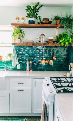 Justina Blakeney's kitchen remodel on Sight Unseen