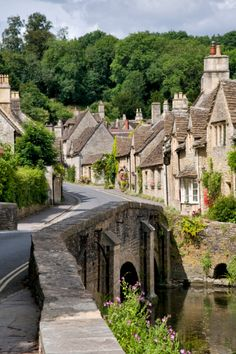 Castle Combe village in the Cotswolds, .England,