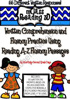mClass Reading 3D TRC Written Comprehension Using Reading A-Z Fluency Passages from Blue Ridge Second Grade Days on TeachersNotebook.com -  (88 pages)  - This set of written response activities uses 55 fluency passages from Reading A-Z based which allows students to practice TRC or written comprehension responses.