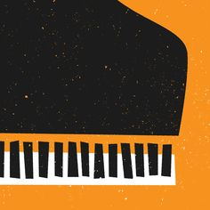 Mid Century Grand Piano Print from Fox Music Illustration, Illustrations, Mike Brand, Musical Instruments Drawing, Piano Art, Jazz Poster, Music Flyer, Pop Art Wallpaper, Event Poster Design