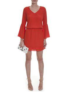 Vestido Ateen Decote Orange