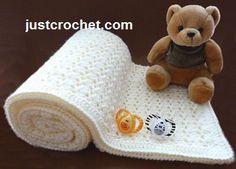 Free baby crochet pattern for shawl http://www.justcrochet.com/shawl-usa.html #justcrochet #freebabycrochetpatterns