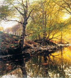 This is the painting my mother loves. It was painted by Peder Monsted