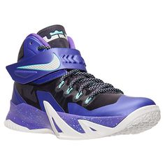 Men's Nike Zoom LeBron Soldier 8 Basketball Shoes| Finish Line | Court Purple/Metallic Silver/Hyper Grape