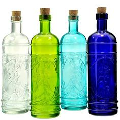 Wholesale Decorative Glass Bottles Small Vintage Glass Bottle 65Inch Cylinder Design Purple