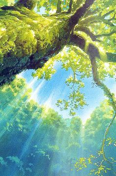 aprettyfire:  Ghibli Scenery iPhone backgrounds for anon
