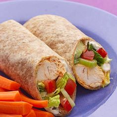 Healthy buffalo chicken wrap  Ingredients   2 tablespoons hot pepper sauce, such as Frank's RedHot 3 tablespoons white vinegar, divided 1/4 teaspoon cayenne pepper 2 teaspoons extra-virgin olive oil 1 pound chicken tenders 2 tablespoons reduced-fat mayonnaise  2 tablespoons nonfat plain yogurt Freshly ground pepper, to taste 1/4 cup crumbled blue cheese 4 8-inch whole-wheat tortillas 1 cup shredded romaine lettuce 1 cup sliced celery 1 large tomato, diced  Directions  Whisk hot pepper sauce…