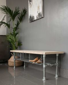 Look at this amazing idea for all those messy shoes under the stairs. Made by us at Ineko Home, our 3 seater Wire Shoe Rack Bench is the perfect solution for our busy family lives. As a bespoke piece of furniture you can have the choice of reclaimed woods and combinations to fit in your hall size & layout. In the picture you will see both reclaimed pine wood & reclaimed scaffolding boards with an hard wood top oil which gives a lovely grey colour to the wood grain. The legs are made i...