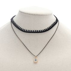 Find More Choker Necklaces Information about Retro Black Gothic Stretch Elastic Tattoo Choker Necklace Crystal Stone Chain Pendant  Jewelry for Women & Teen Girls,High Quality pendant jewelry,China jewelry for women Suppliers, Cheap tattoo choker from Winslet&Jean on Aliexpress.com