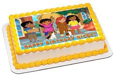 Dora and Friends 4 Edible Birthday Cake Topper OR Cupcake Topper, Decor - Edible Prints On Cake (Edible Cake &Cupcake Topper) Edible Cake Toppers, Birthday Cake Toppers, Cupcake Toppers, Cupcake Cakes, Dora And Friends, Friends Cake, Edible Printing, Cake Images, Cake Shop