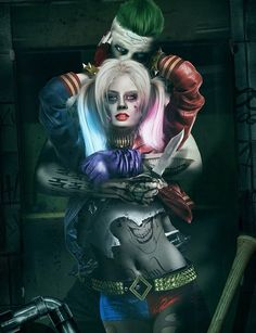 The Joker (Jared Leto) and Harley Quinn (Margot Robbie) by Bosslogic