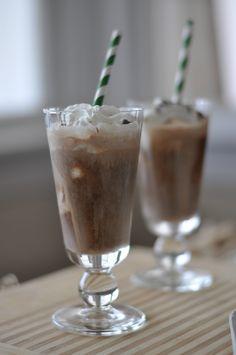 Beer Dessert - Chocolate Stout Float - chocolate ice cream,  vanilla ice cream, stout, whipped cream, chocolate shavings YUM