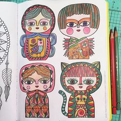 Happy Doodles Posh Coloring Book By Flora Chang