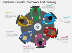 kg business peoples teamwork and planning flat powerpoint design Slide01