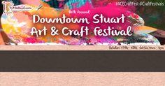 Stuart BC #ACECraftFest #craft #festival #fair #craftfestival  #paintings #glass #sculpture #jewelry #raku #ceramic #clay #mixedmedia #watercolor #wood #photography #metal #watercolor #oils #osceolastreet #stuartmainstreet #greenmarket #handmade ~ Visit www.artfestival.com for details.