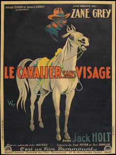 1927, The Mysterious Rider: Vintage French Movie Posters - 50 Watts