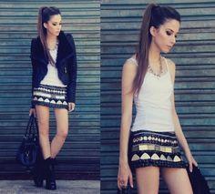 love the statement skirt