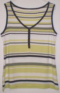 Jasper Conran Multi Coloured Striped Sleeveless Top, Size 12
