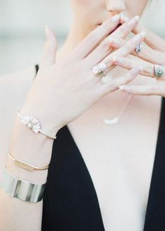 Gold & silver ornate & minimal jewelry inspired by architecture | Handmade in California by Annachich luxury designer jewelry