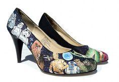 Star Wars painted heels