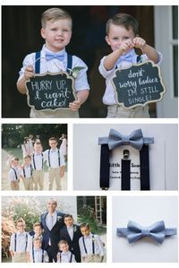 Boys Bow Tie Boys Dusty Blue Bow Tie Navy Suspenders Ring Bearer Bow Tie Wedding Bow Tie Ring Bearer Outfit Baby Bow Tie Wedding Gift by LittleBoySwag on Etsy Wedding Signs, Wedding Ceremony, Ring Bearer Outfit, Ring Bearer Ideas, Ring Bearer Signs, Ring Bearer Gift, Dream Wedding, Wedding Day, Suprise Wedding