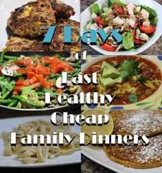 1 week of healthy, cheap, super fast family-friendly dinners, plus the system to do it every week.