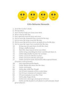 Classroom Freebies: 100+ Behavior Acknowledgements. Intrinsic, free acknowledgements of students.