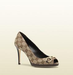 new hollywood original GG fabric mid-heel pump