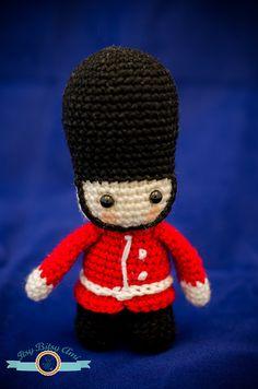 Queen's Guard London Amigurumi Crochet toy