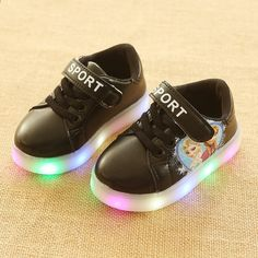 cffcda13940d All seasons Hook Loop fashionable baby first walkers LED lighted shoes for baby  girls Patch nice excellent