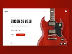 Gibson SG Guitar Home Page Concept designed by Kris Anfalova for Shakuro. Connect with them on Dribbble; the global community for designers and creative professionals. Website Design Layout, Web Layout, Website Design Inspiration, Layout Design, Website Designs, Design Ideas, App Ui Design, User Interface Design, Design Web