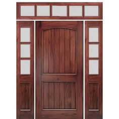 Shop for MAI Doors A79P-1-2-T rustic and mediterranean door. Arched 2-Panel V-Groove Design Square Top Exterior Door and Sidelites in Walnut with Transom. Unique exterior square top door with an arched 2-panel v-groove design Door is crafted from hand-selected FSC certified South American Andean Walnut of the highest quality to ensure optimal performance and unmatched beauty This
