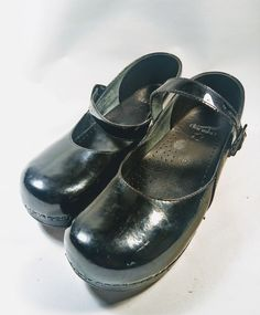 DANSKO MARCELLE BLACK PATENT LEATHER MARY JANE CLOGS 40 US 9.5 - 10 Nursing   Clothing, Shoes & Accessories, Women's Shoes, Flats   eBay!