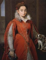 Att. to Allessandro Allori, Portrait of a Lady with a Dog, c1580-85