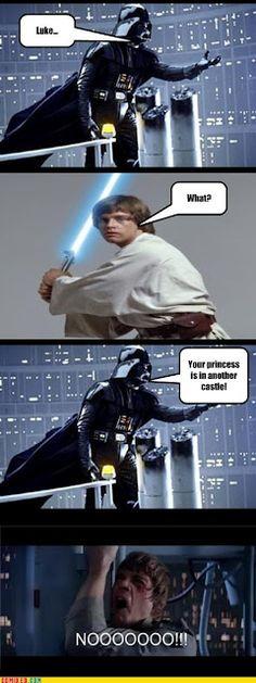 Meme Week: Luke.... Your Princess is...