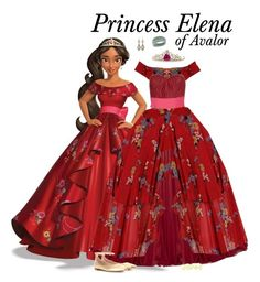 """Princess Elena of Avalor - Ballgown"" by supercalifragilistica ❤ liked on Polyvore featuring Disney, Marchesa, Valentino, Gianvito Rossi, BillyTheTree and Konstantino"