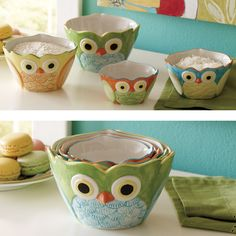Owl Measuring Cups, I NEED this.
