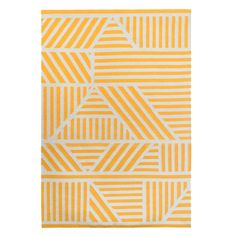 Designed by Kangan Arora, the Loha rug is a gorgeously graphic rug in yellow which looks striking in any room of the home. Hand woven in India. Colourful Cushions, Yellow Rug, Ceramic Vase, Screen Printing, Print Design, Hand Weaving, Flooring, Wool, Rugs