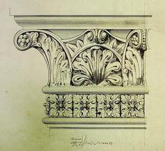 Princes Bridge, Melbourne, details of carving, 1885 by John Harry Grainger