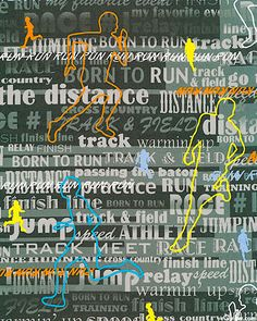 Born to Run - Oh my goodness...a running fabric! I LOVE it!